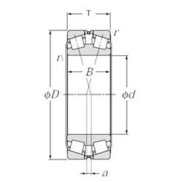 380 mm x 560 mm x 135 mm  NTN 323076 tapered roller bearings